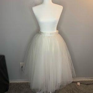 Dresses & Skirts - WHITE TOOL SKIRT